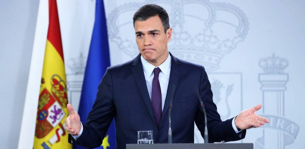 Педро Санчес при обявяването на предсрочни избори за 28април. Снимка: El Pais