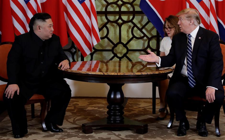 Ким Чен Ън и Доналд Тръмп не можаха да се разберат на срещата в Ханой. Снимка: imaginechina