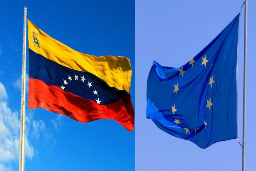 Флаговете на Венецуела и на Европейския съюз се веят днес от различни ветрове. Снимка: El Carabobeno