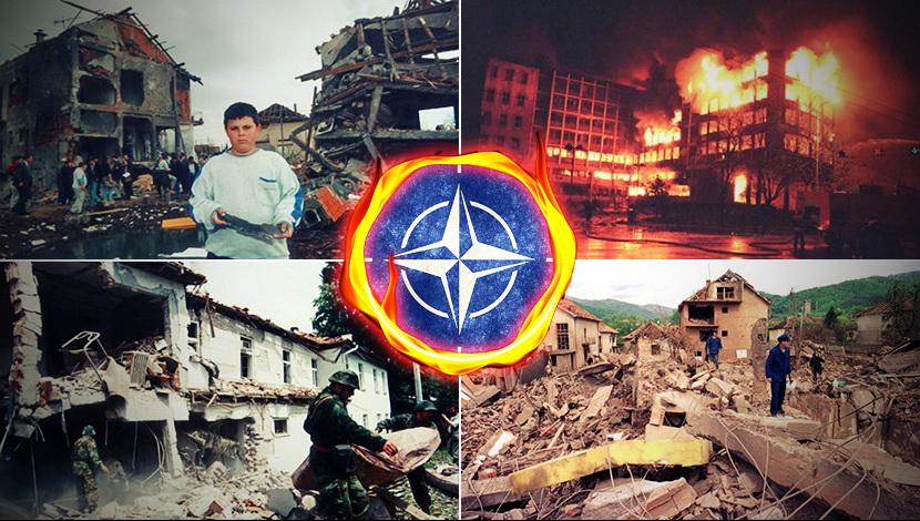 Разрушения и мъка пося НАТО с бомбите си в някогашна Югославия. Илюстрация: telegraf.rs