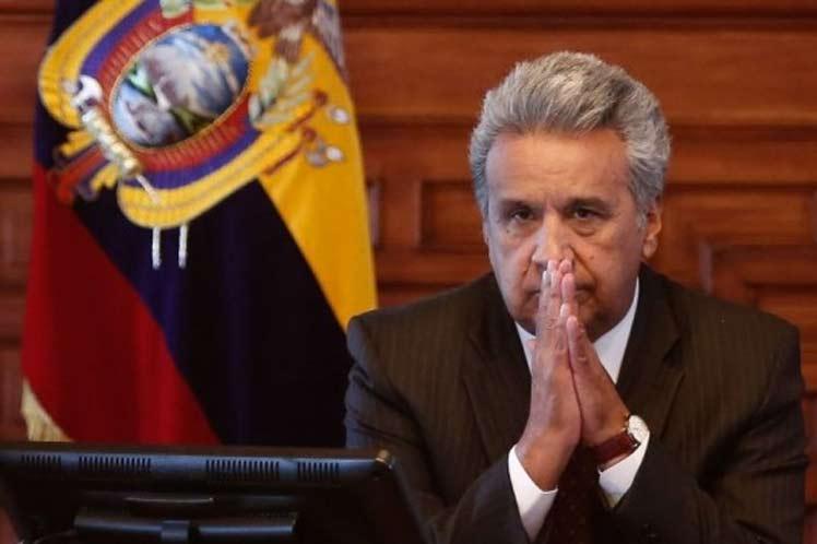 Бог да му е на помощ на президента на Еквадор Ленин Морено. Ако обвиненията срещу него за притежаване на офшорни сметки се докажат, Морено е застрашен от импийчмънт, въпреки опита да отклони вниманието от себе си с предаването на Джулиан Асанж. Снимка: cadenagramonte.cu