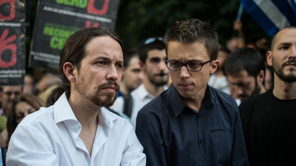 """Пабло Иглесиас и Иниго Ерехон бяха близки приятели, когато основаваха """"Подемос"""", макар често и да спореха. Днес вече не си и говорят. Снимка: El Confidencial"""