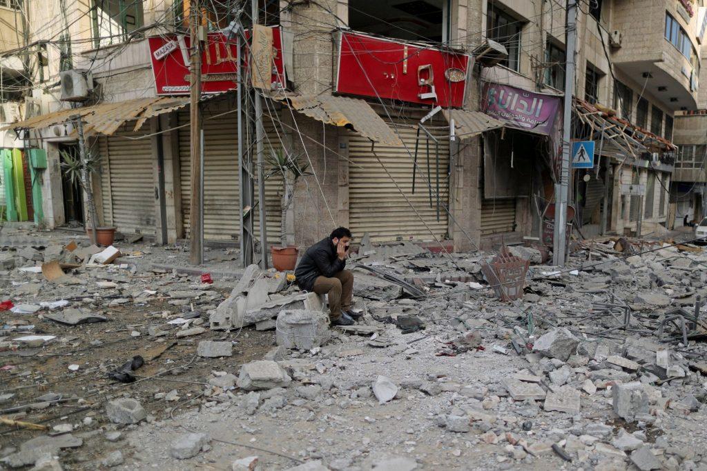 Разрушения в Газа след последната вълна бомбардировки. Снимка: ТелеСур