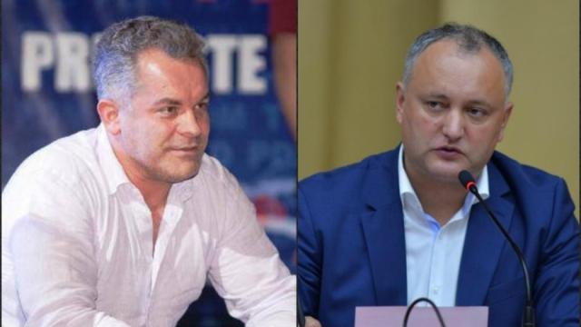 Олигархът Владимир Плахотнюк (вляво) и президентът Игор Додон си мерят силите на политическия тепих в Молдова. Снимка: basarabia.md