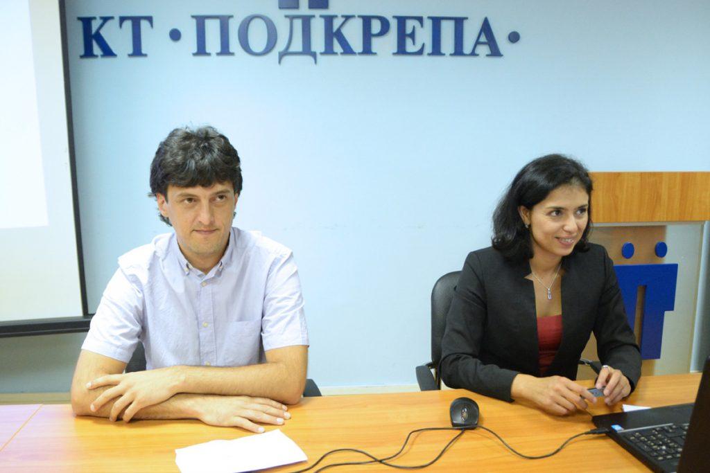 """Ивайло Попов (""""За Земята"""") и Ваня Григорова (""""Солидарна България"""")"""