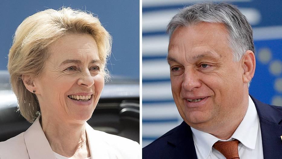 Урсула фон дер Лайен  Виктор Орбан. Снимка: Stern
