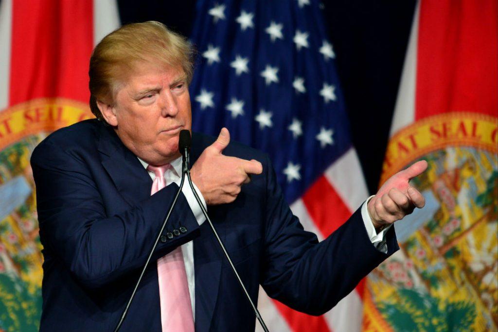 Доналд Тръмп е красноречив и в жестовете си. Снимка: palabrasclaras.mx