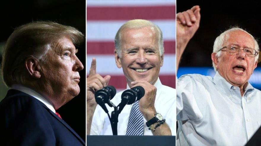 Доналд Тръмп, Джо Байдън и Бърни Сандърс. Снимка: HisspanTV