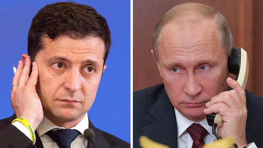 Президентите на Украйна и Русия - Володимир Зеленски и Владимир Путин - си поговориха за втори път по телефона. Снимка: gazeta.ru