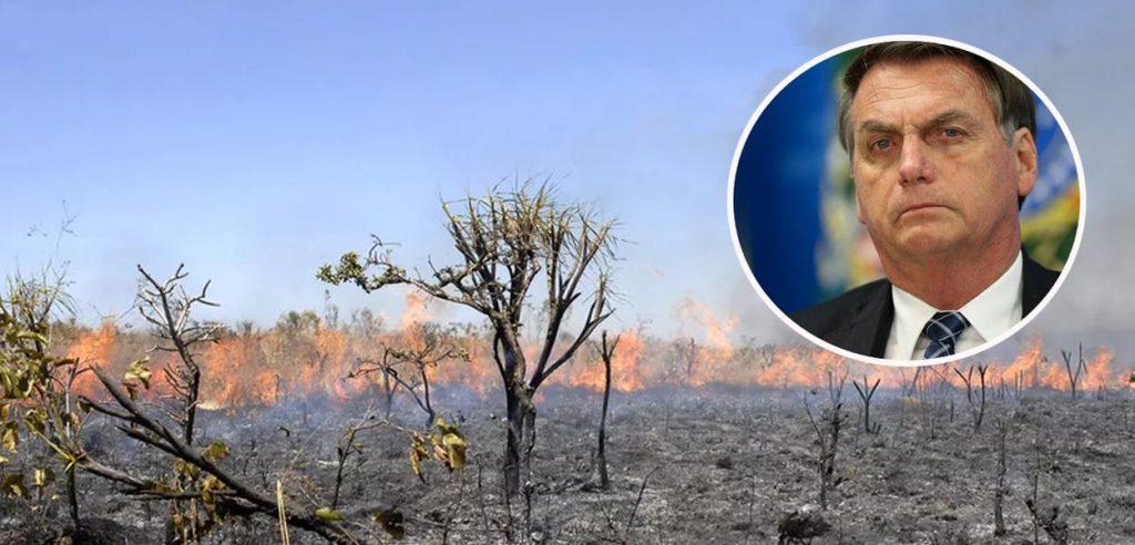 Пожарите в Амазония вече се олицетворяват от политическото бедствие Болсонаро. Снимка: brasil247.com