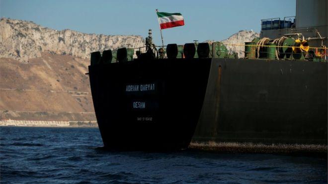 Танкерът напусна Гибралтар въпреки всички усилия на САЩ да го задържат. Снимка: Ройтерс