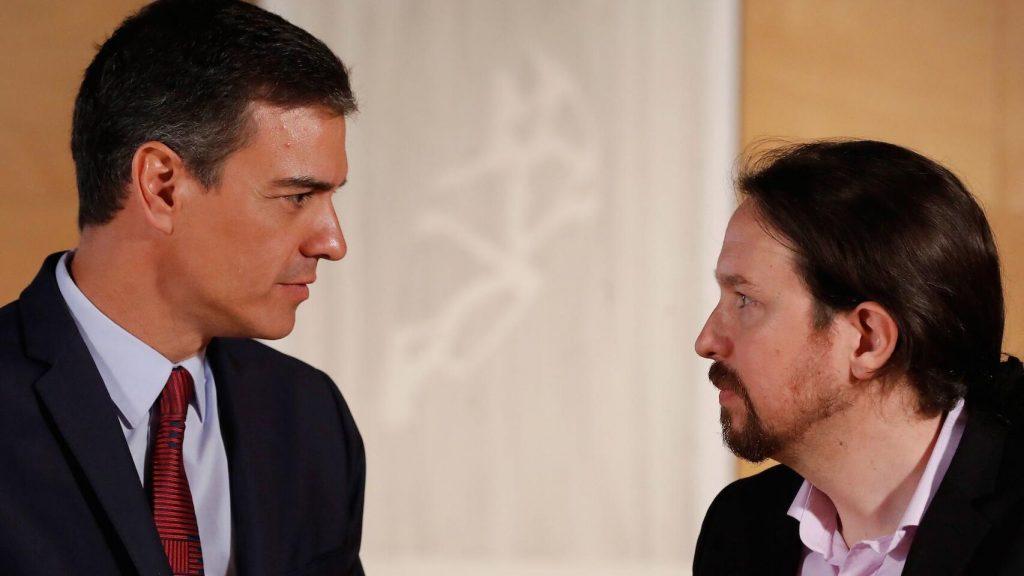 В погледите на Педро Санчес и Пабло Иглесиас все по-малко се долавя готовност за разбирателство. Снимка: EFE