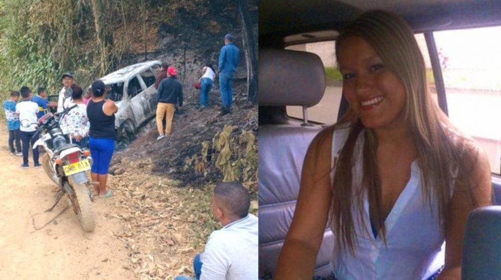 Карина Гарсия (вляво) и колата, в която е била убита заедно с майка си и още четирима съратника. Снимка: zaonacero
