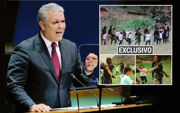 """Колумбийският президент Иван Дуке беше хванат в тиражиране на фалшива снимка (горната от вградения кадър), за която твърди, че е правена във Венесуела, а тя всъщност от Колумбиа. Изобличи го колумбийският вестник """"Ел Коломбиано"""", публикувал и тази, де други снимки от същата серия още през 2015-та. Снимка: El Colombiano"""