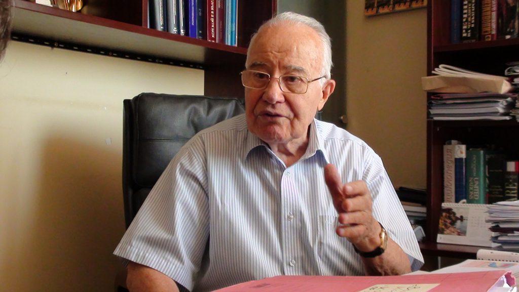 Проф. Александър Янков през август 2014 г. Снимка: Кирил Константинов