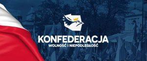 """Графика с лого на екстремистката коалиция """"Конфедерация""""."""