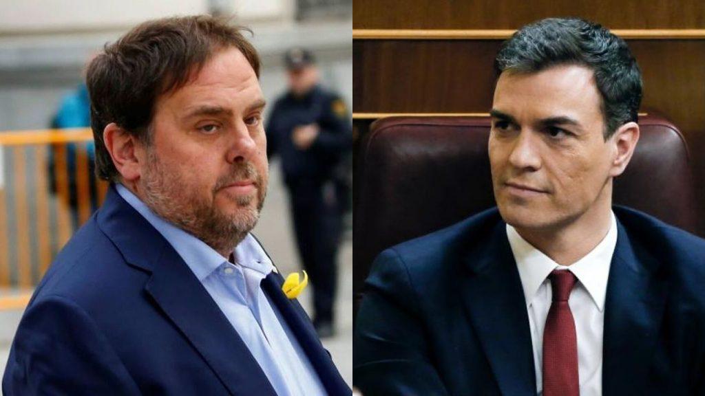 От съдбата на Ориол Жункерас (вляво) сега зависи и съдбата на Педро Санчес. Снимка: EFE
