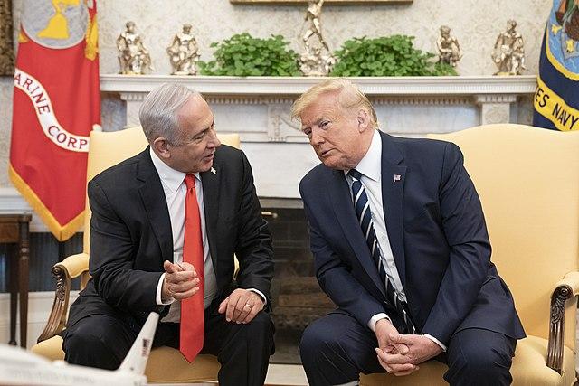 """""""Мирният план"""" на Тръмп представлява просто поредното отмятане на точка от списъка с желания на Нетаняху. Снимка: Wikimedia Commons"""