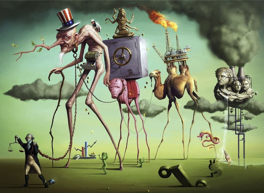 Още Салвадор Дали не е виждал капитализма като привлекателен. Илюстрация: El Viejo Topo