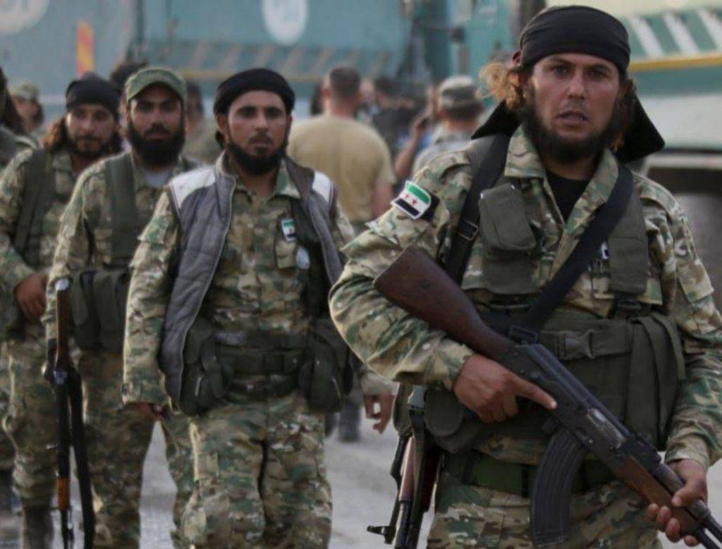 """Хиляди бойци от някогашната """"сирийска свободна армия"""", вече официално на заплата от Турция, са прехвърляни в Либия. Снимка: Twitter"""