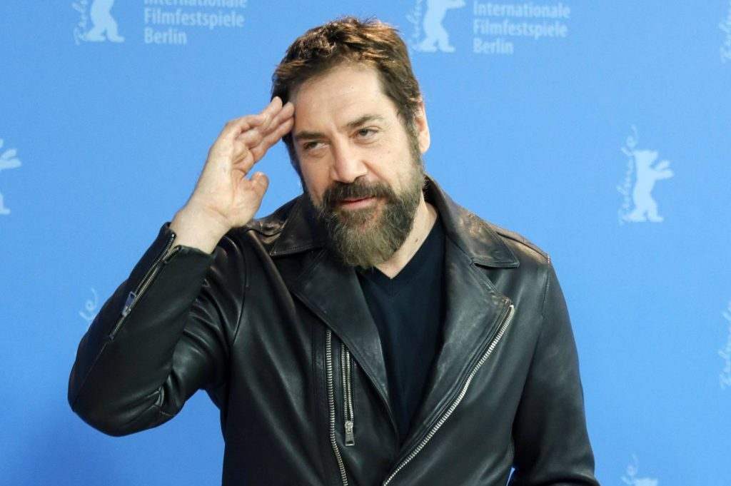 """Хавиер Бардем се появи по време на представянето си на """"Берлинаре"""" с брада, отгледана за ролята му на Ернан Кортес. Снимка: EFE"""