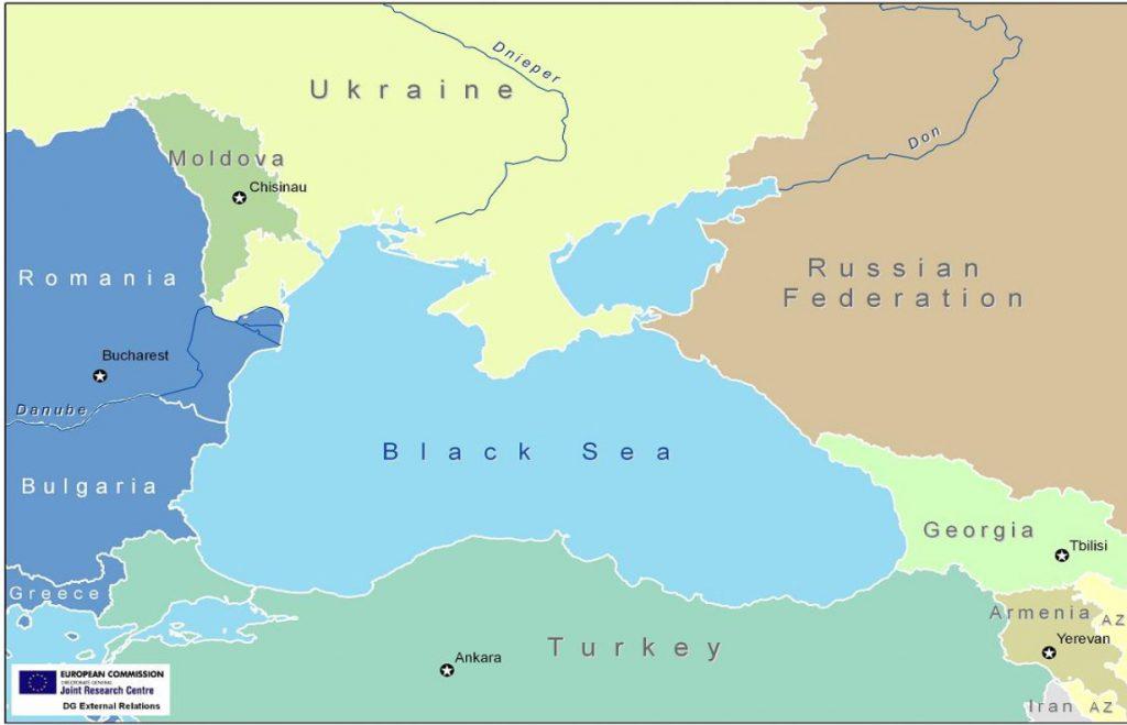 Черноморският регион става все по-невралгичен. Карта: European Commission