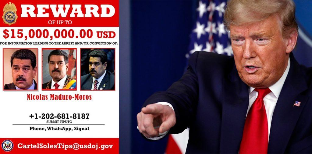Като в уестърните - Тръмп обяви 15 милиона долара награда за главата на Мадуро. Илюстрация: Morning Star