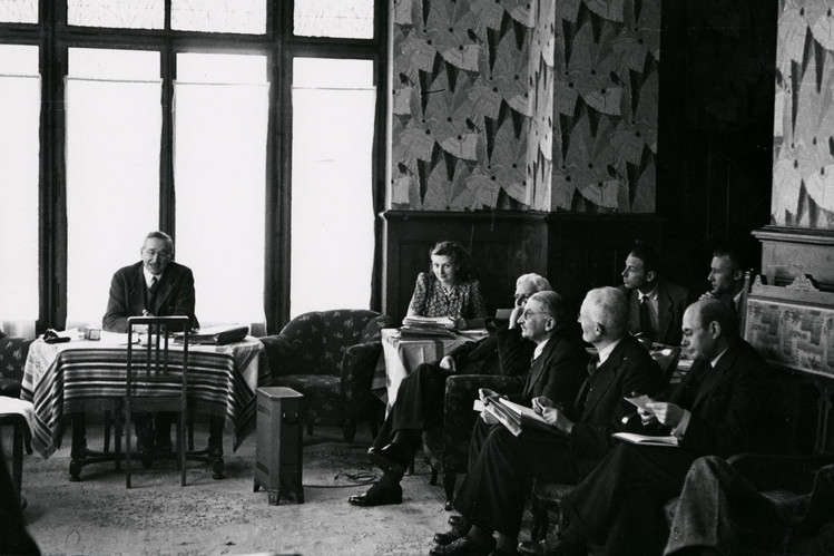 Първата среща на Обществото Мон Пелерин през 1947 г.