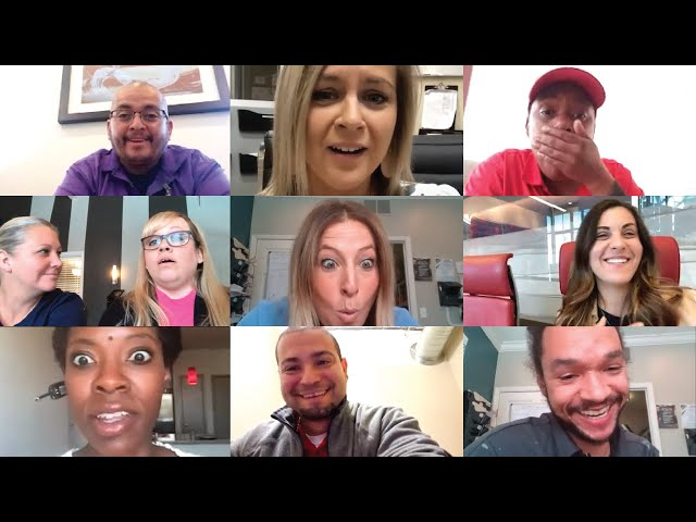 Това са мимиките на служителите на Лари Конър, с които те посрещнали съобщението му по време на видеоконференцията. Снимка от екрана: RT