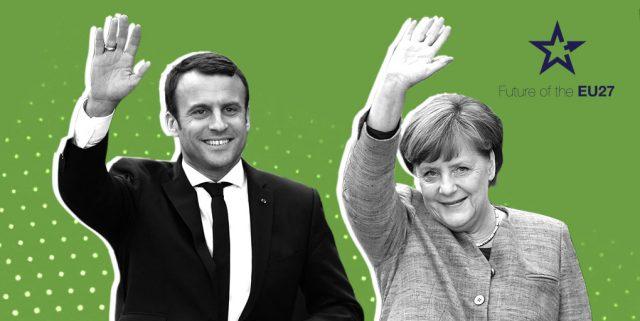 """Френско-германският съюз продължава да е фундаментът на ЕС. Илюстрация: """"Ново време"""""""
