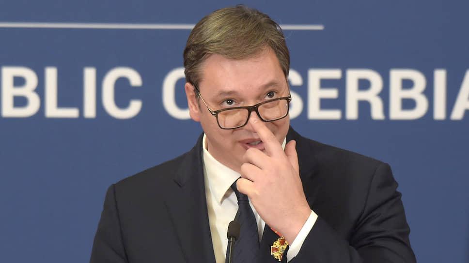 """Сръбската прогресивна партия на президента Александър Вучич спебели над две трети от местата в парламента в Белград. Снимка: Дмитрий Азаров, """"Коммерсантъ"""""""