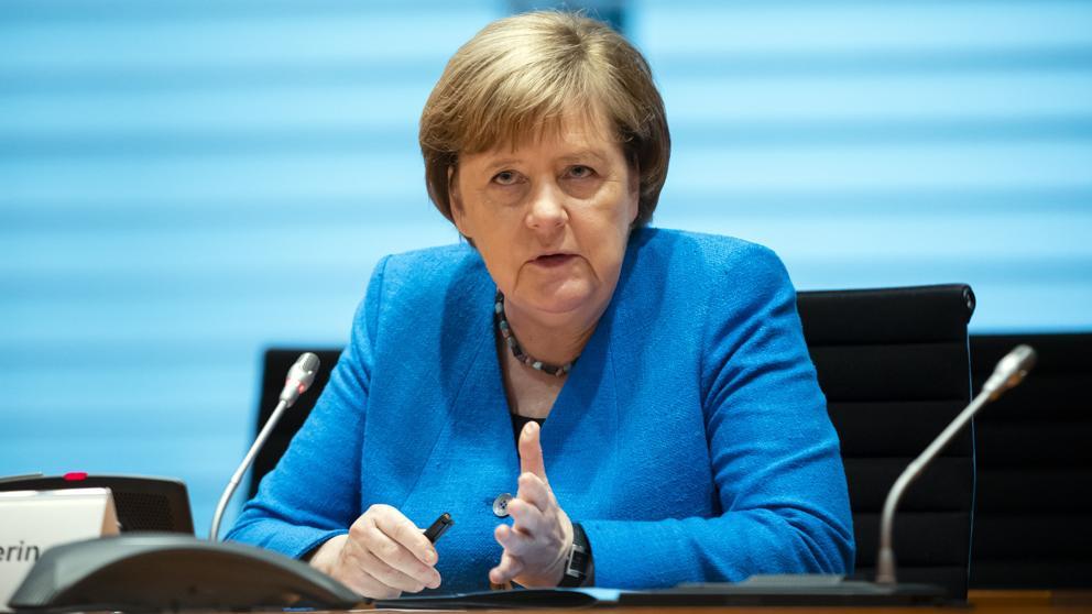 Ангела Меркел по време на интервюто. Снимка: La Vanguardia