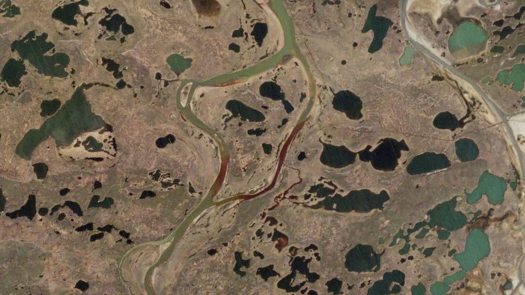 Разливът на гориво в Норилск замърси редица реки и езера, отичащи се в Карско море. Снимка: Wikimedia Commons