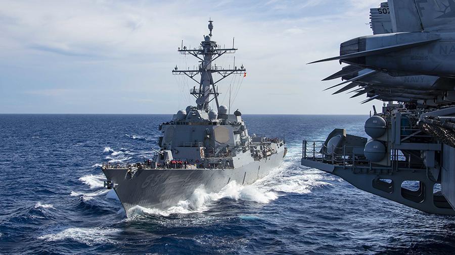 """Южнокитайско море се превръща в едно от най-""""горещите"""" заради китайско-американското съперничество. Снимка: navi.mil"""