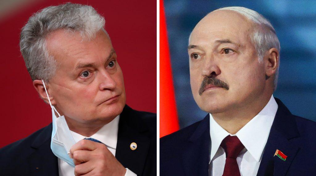 Президентът на Литва Гитанас Науседа (вляво) и беларуският лидер Александър Лукашенко. Снимка: gazeta.ru