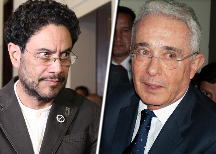 Иван Сепеда (вляво) и Алваро Урибе. Снимка: las2orillas.com