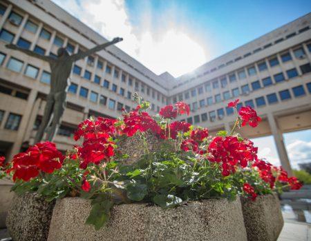 В двора на министерството на външните работи на България. Снимка: mfa.bg