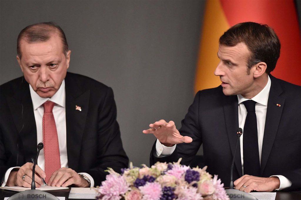 Реджеп Ердоган и Еманюел Макрон имат дълга история в обтегнатите си отношения. Снимка: middle-east-online.com