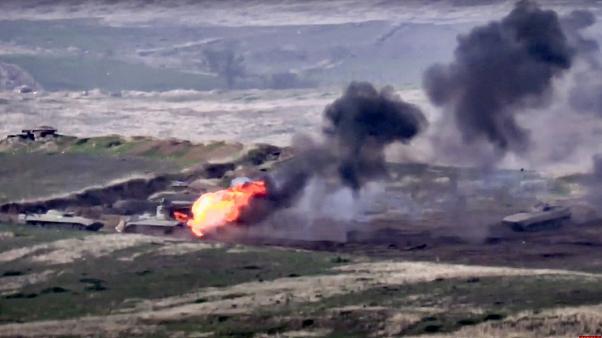 Бойните действия в Нагорни Карабах безпокоят и заради геополитическия им откат. Снимка: ru.ewronews.com