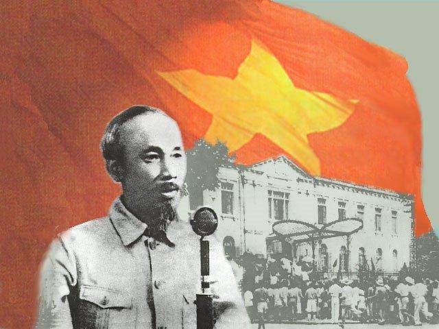 Хо Ши Мин провъзгласява независимостта на Виетнам пред 500-хиладен митинг в Ханой на 2 септември 1945 г.