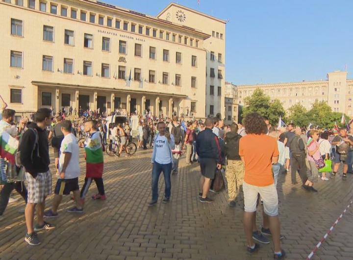"""Вторият опит за """"народно въстание"""" изглежда доста по-неуверено. Снимка: БТВ"""