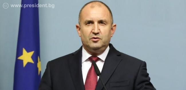 Президентът Румен Радев по време на обръщението си. Снимка: president.bg
