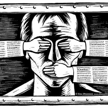 Свободата на медиите е носещ стълб на демокрацията. Илюстрация: nomada.gt