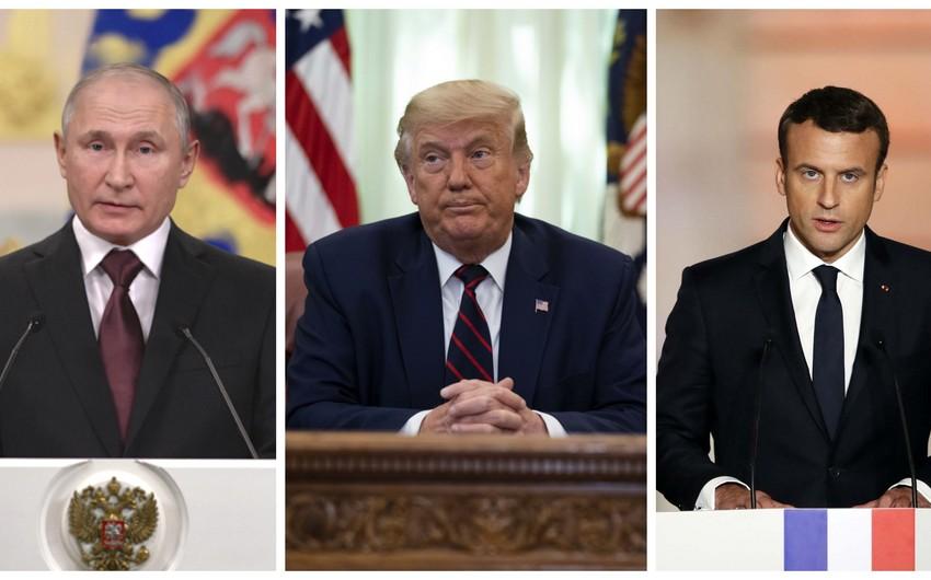 Владимир Путин, Доналд Тръмп и Еманюел Макрон имат общ интерес да потушат бързо все още малкия пожар в Нагорни Карабах и да спрат Ердоган. Снимка: report.az