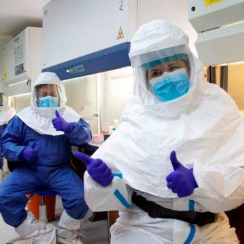 Учени от Венесуелския институт за научни изследвания (IVIC), работили върху лекарството срещу Covid-19. Снимка: mincyt.gob.ve