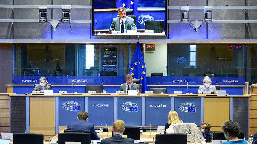 По време на заседанието на комисията LIBE. Снимка: European Parliament