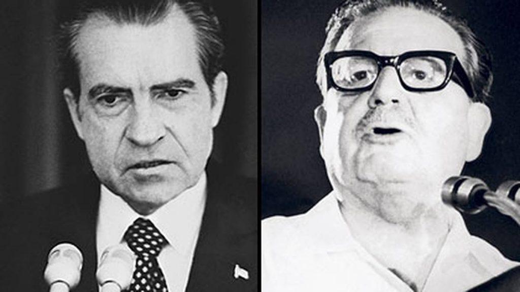 За Ричард Никсън (вдясно) Салвадор Алиенде става обект на необявена война дори още преди да поеме президентския пост в Чили. Снимка: semana.com