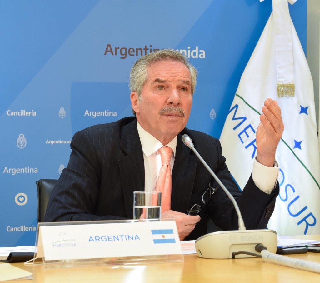 Фелипе Сола оглавява министерството на външните работи на Аржентина - страната, която е ротационен председател на МЕРКОСУР. Снимка: cancilleria.gob.ar