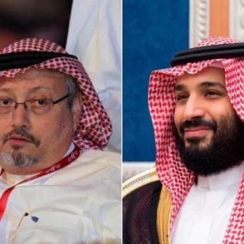 Джамал Хашоги (вляво) и принц Мохамед бин Салман. Снимка: tehrantimes.com