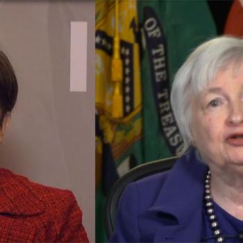 Директорът на МВФ Кристалина Георгиева и финансовият министър на САЩ Джанет Йелън